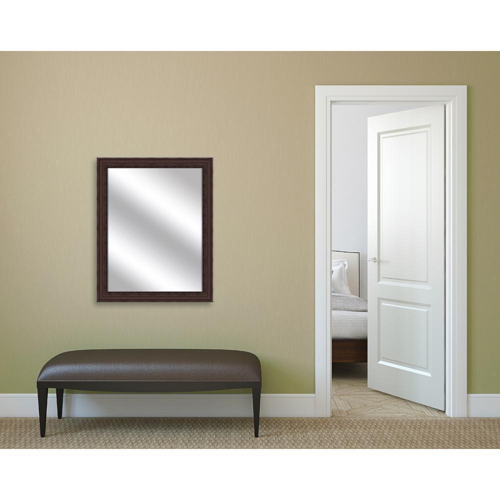 31.75 x 25.75 Framed Mirror in Brown