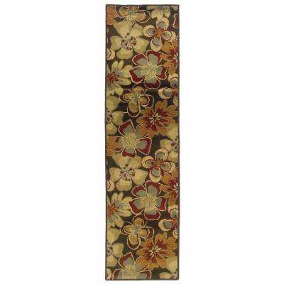 Grace Teslin Brown 2 ft. x 7 ft. Runner Rug