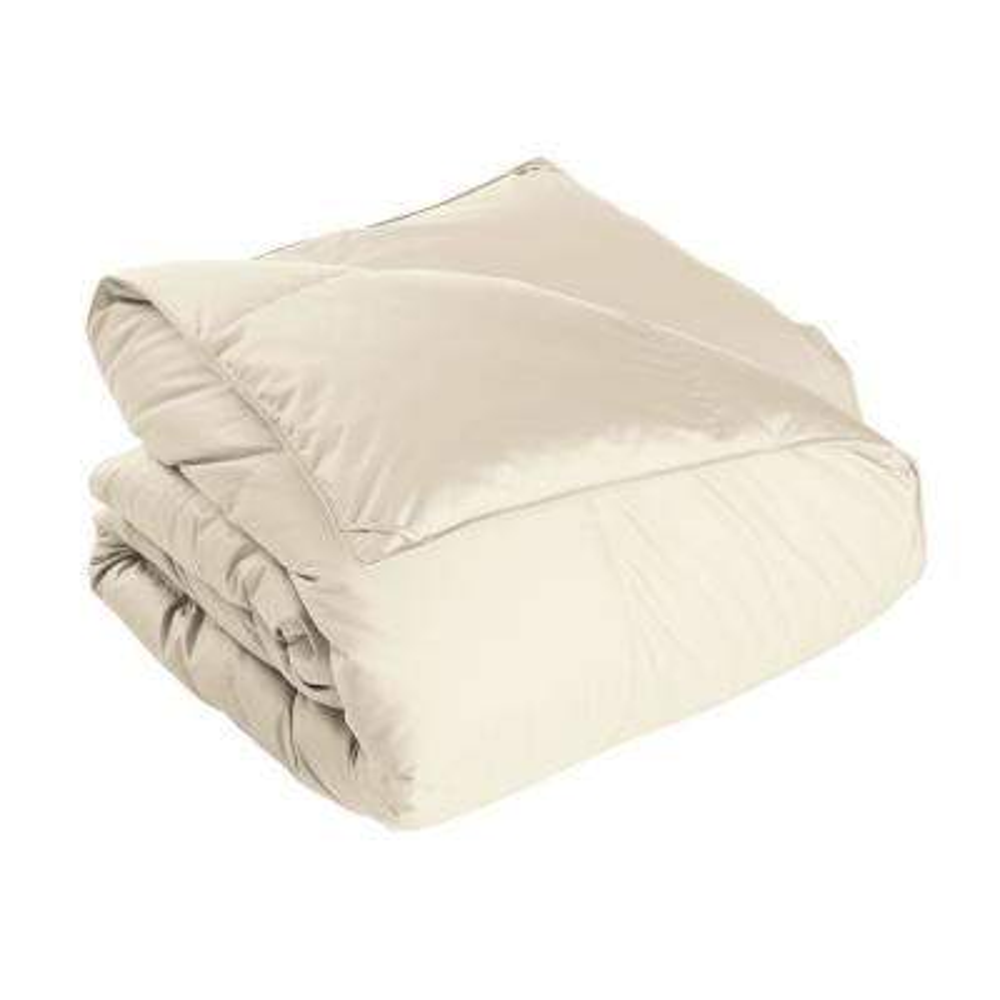Alberta Medium Warmth Ivory Queen Euro Down Comforter