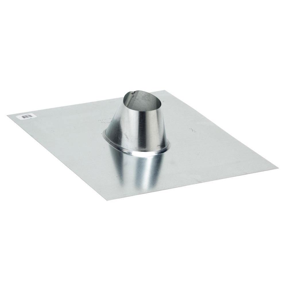 FHA Base 1-1/2 in. Galvanized Steel No Caulk Vent Pipe Flashing