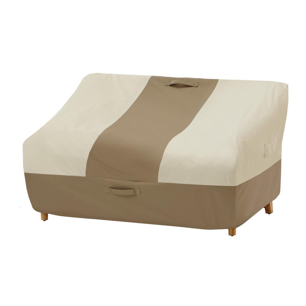 Hampton Bay Deep Seat Outdoor Patio Loveseat Cover 482855 C The Home Depot