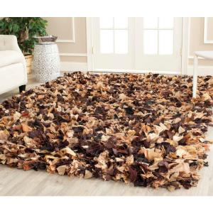 rio shag brownmulti 8 ft x 10 ft area rug