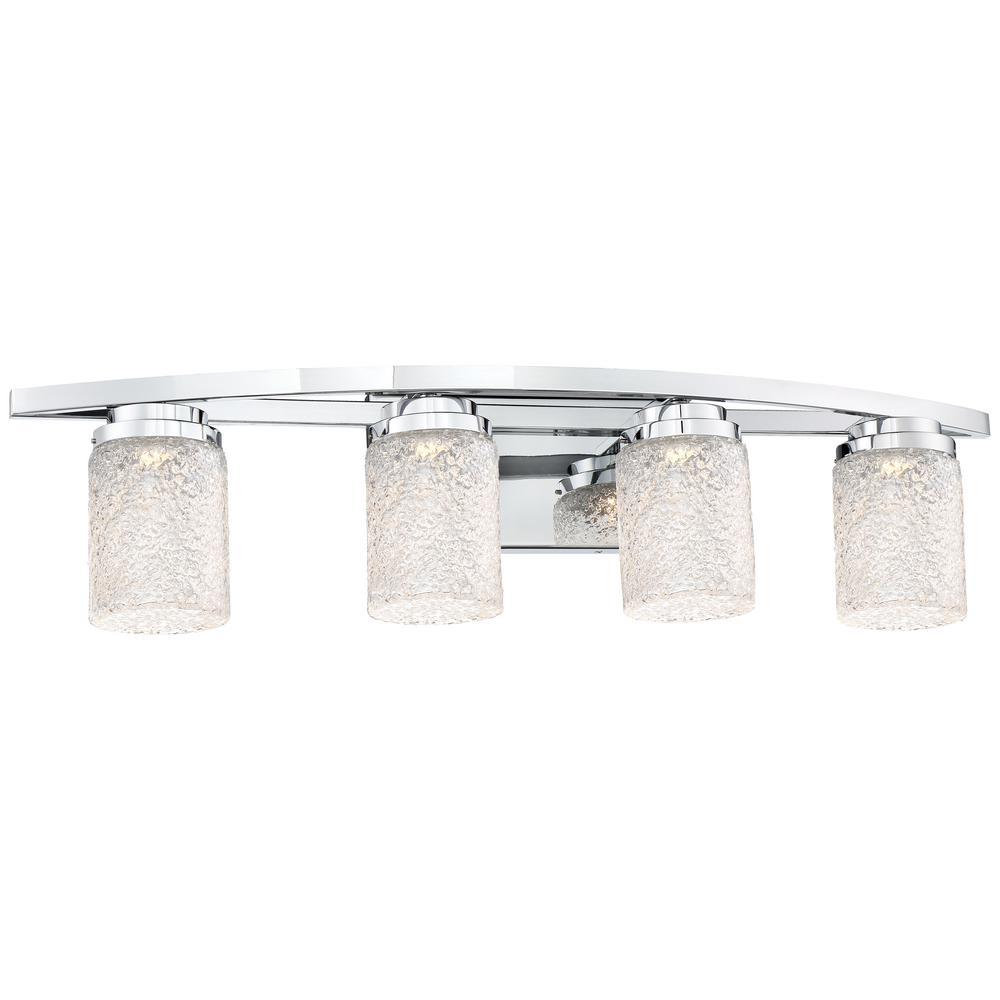 Brilliant 30-Watt Chrome Integrated LED Bath Light