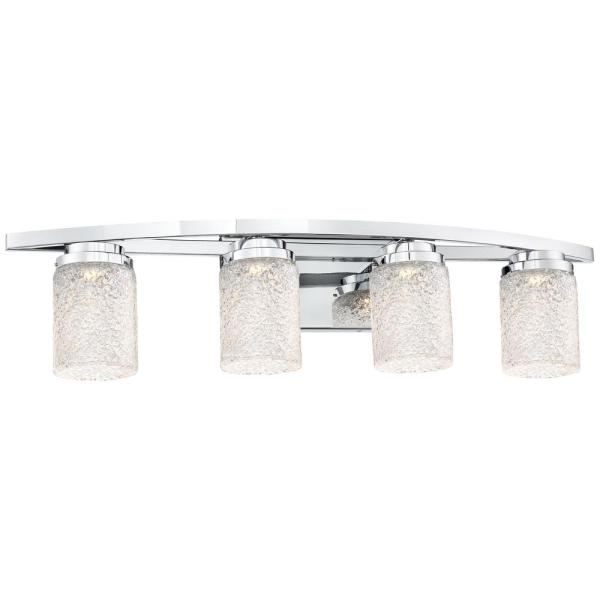 Brilliant 30-Watt Chrome Integrated LED Bath Light