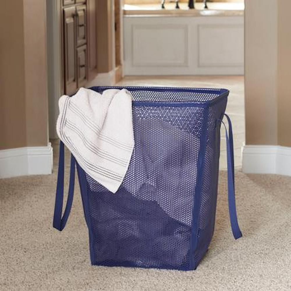 Navy Collapsible Mesh Rectangle Laundry