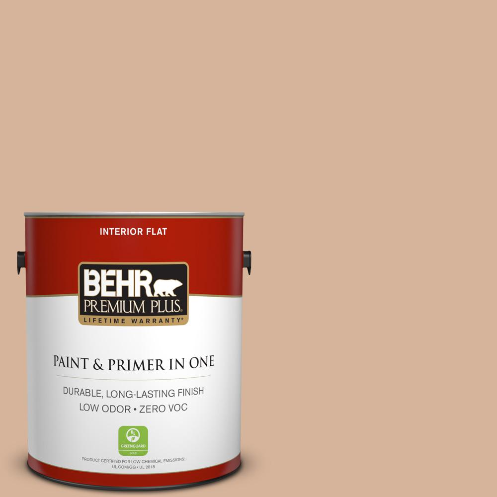 BEHR Premium Plus 1-gal. #S230-3 Beech Nut Flat Interior Paint