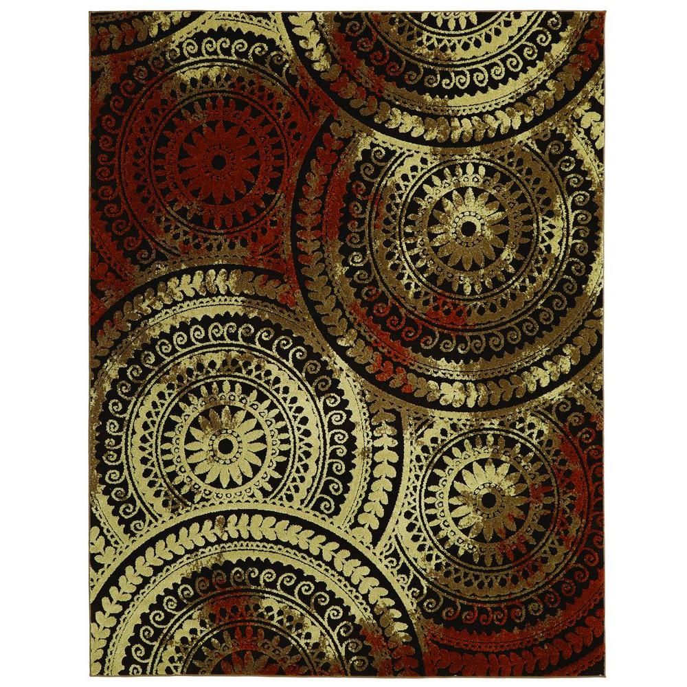 Delicieux Home Decorators Collection Spiral Medallion Brown/Rust 7 Ft. 10 In. X 9
