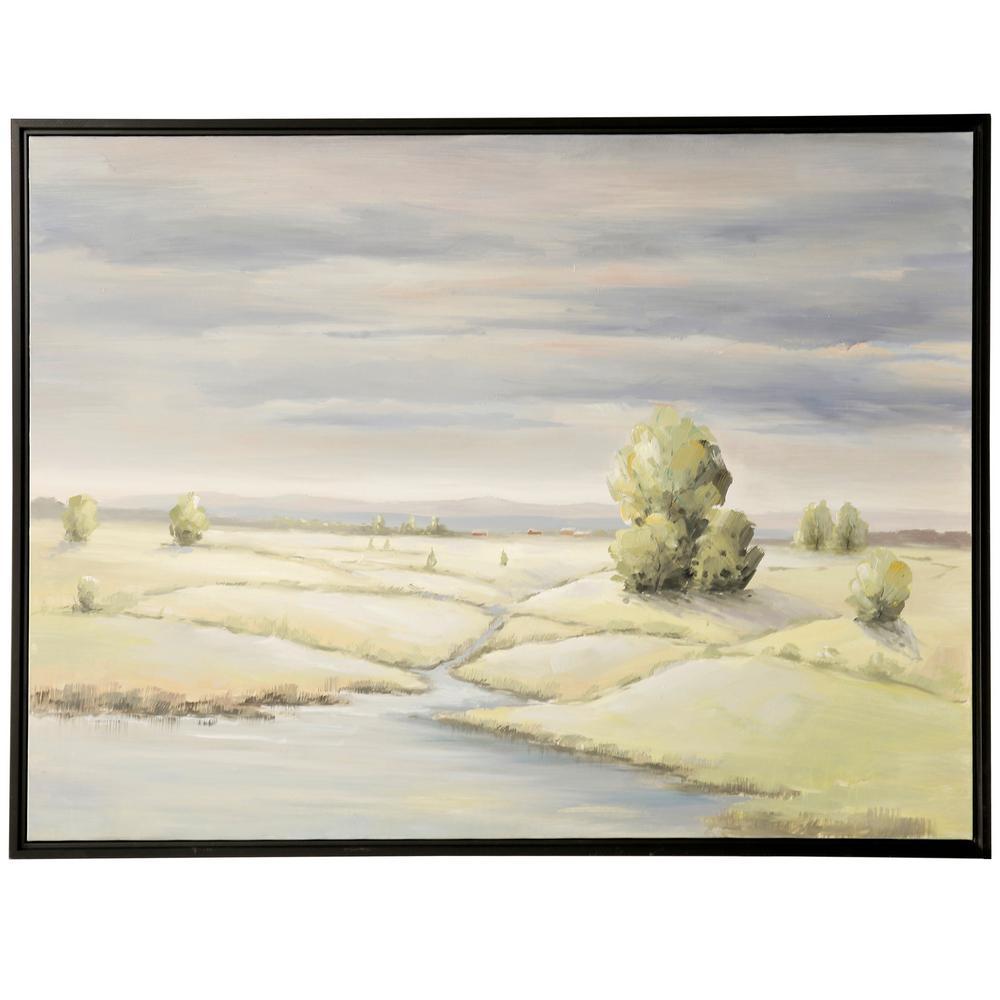 StyleCraft Field Brook Landscape Black Canvas, Wood Framed Wall Art, Green was $299.85 now $94.32 (69.0% off)