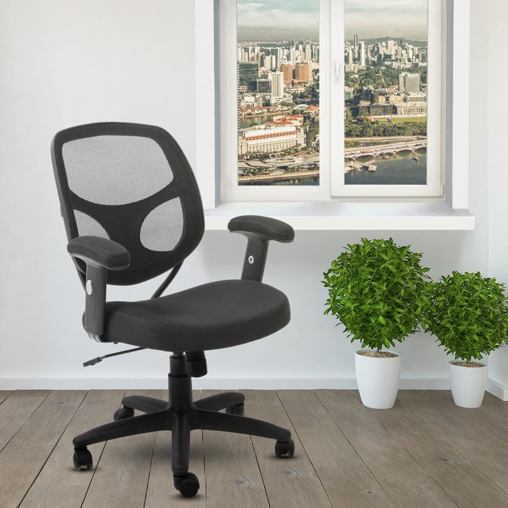 Techni Mobili Black Task Pro Office Chair