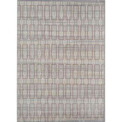 Ambrosia Ivory Gray Ivory 4  ft. 0 in. x 6  ft. 0 in. Rectangular Area Rug