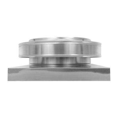 12 in. Dia. Aluminum Round Back Roof Vent with Curb Mount Flange in Mill Finish