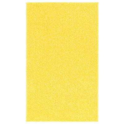 OurSpace Yellow 7 ft. x 10 ft. Bright Area Rug