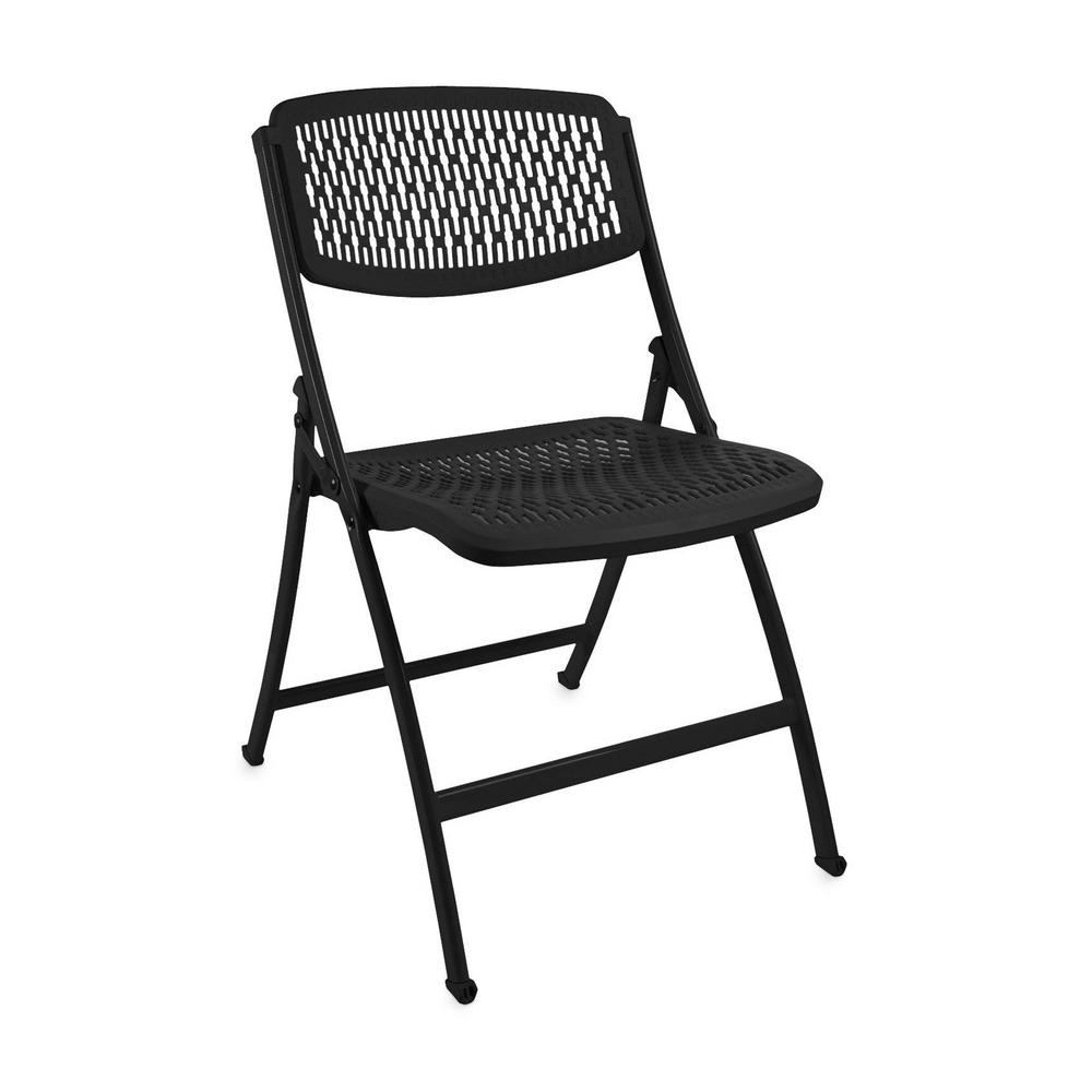Astounding Hdx Black Plastic Seat Foldable Folding Chair Beatyapartments Chair Design Images Beatyapartmentscom
