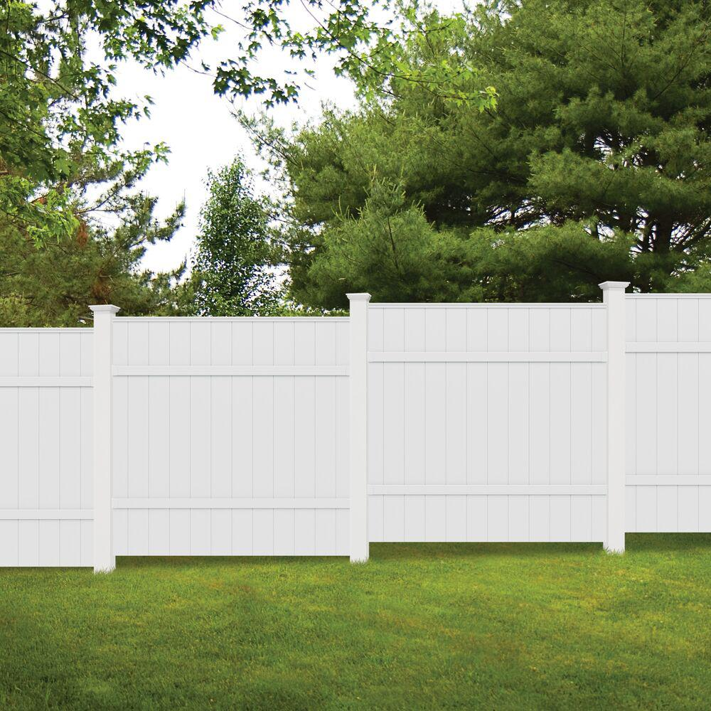 6 Ft W White Vinyl Windham Fence Panel