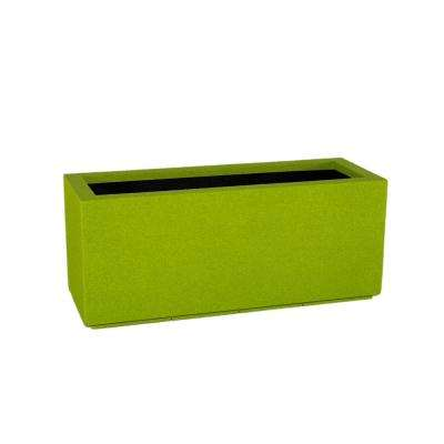 Milan Tall 46 in. x 19 in. Greenery Trough Planter