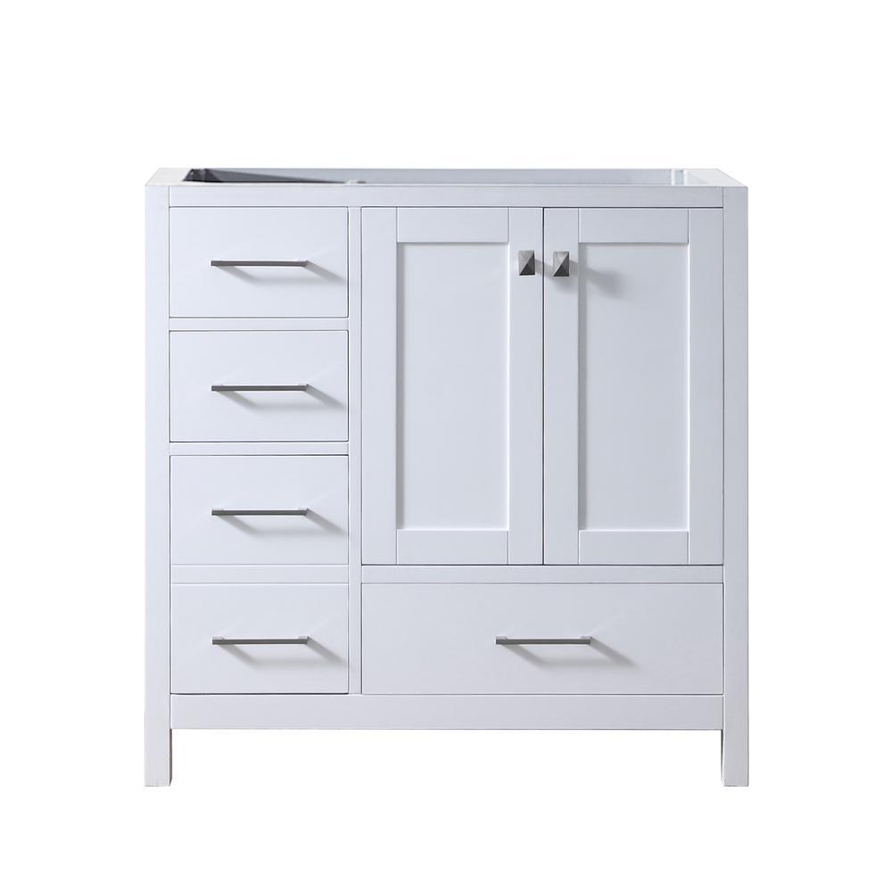 Caroline Madison 36 in. W Bath Vanity Cabinet Only in White