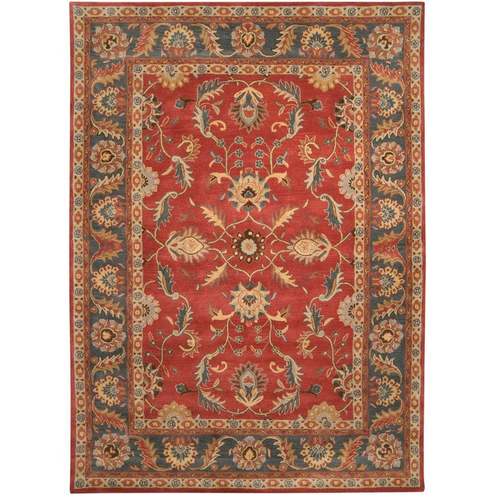 John Rust Red 9 ft. x 12 ft. Area Rug