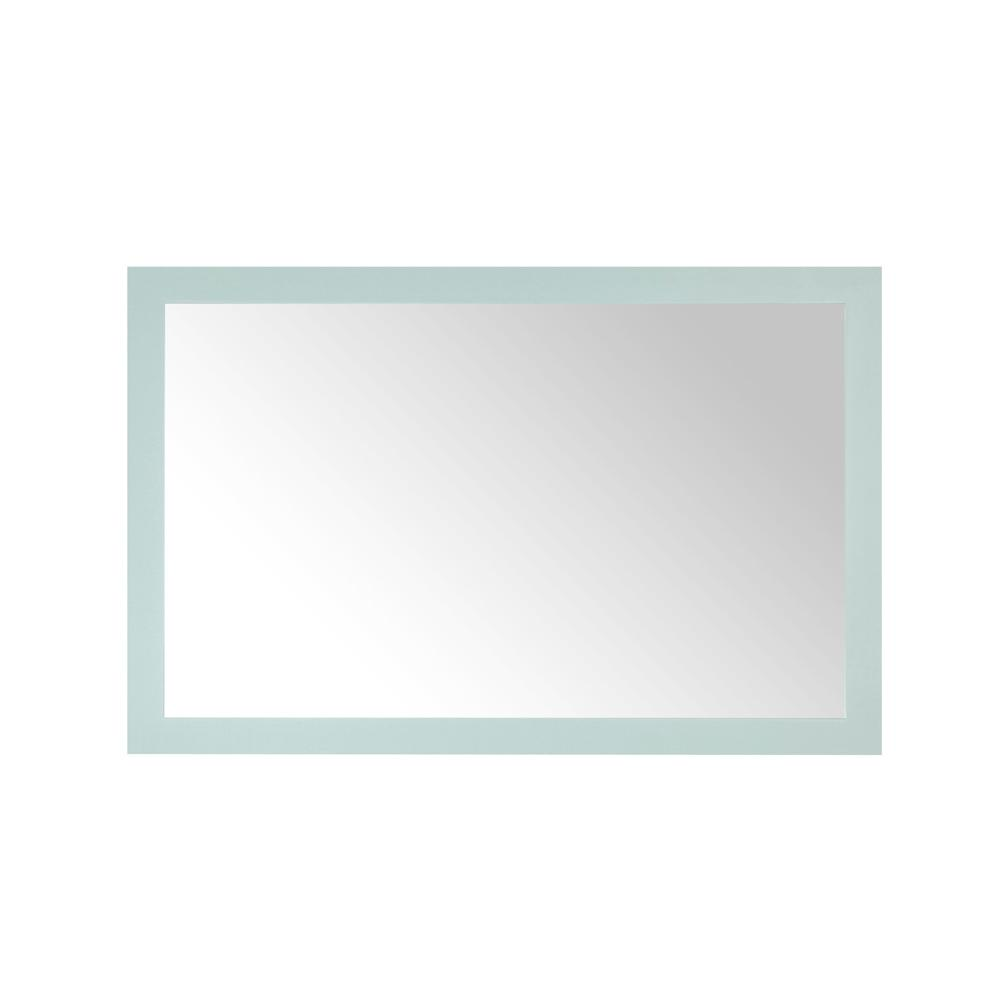 Home Decorators Collection Grace 46 in. x 30 in. Single Framed Wall Mirror in Minty Latte
