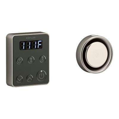 Invigoration Steam Bath Generator Control Kit in Vibrant Brushed Nickel