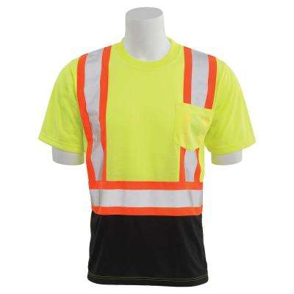9604SBC 5X-Large HVL/Black Polyester Safety T-Shirt