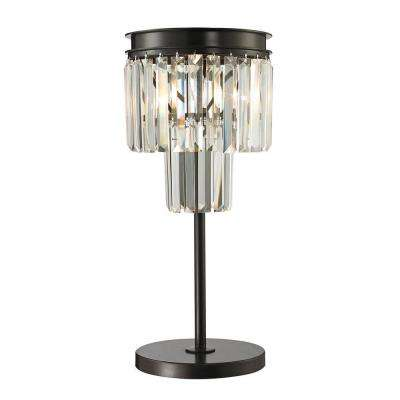 Lucerne Collection 22 in. Oil-Rubbed Bronze Table Lamp