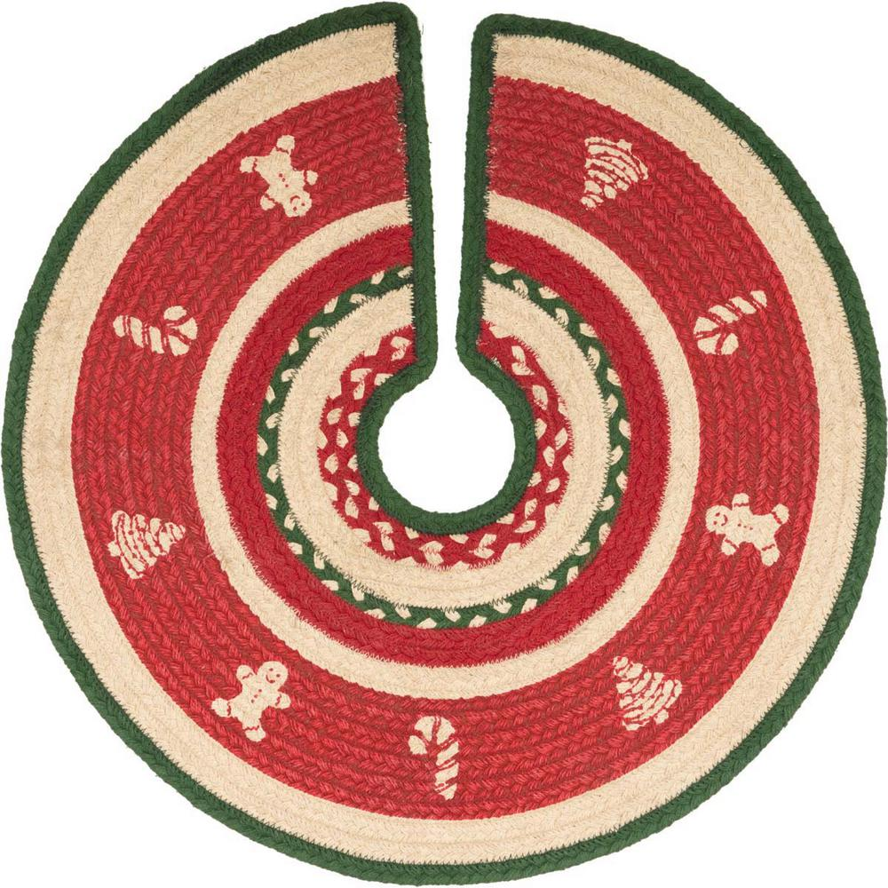 21 in. Christmas Cookies Red Holiday Decor Tree Skirt