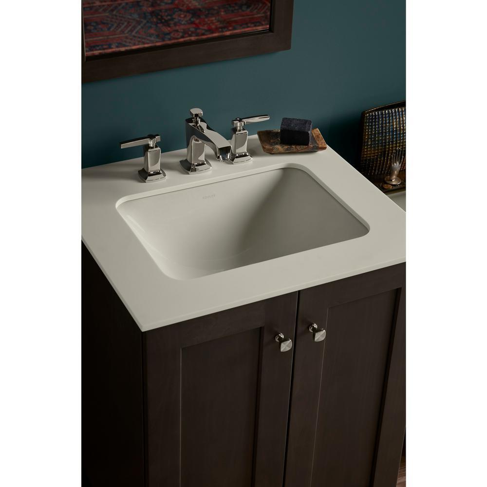 KOHLER Undermount Bathroom Sink Overflow Drain No-Faucet ...