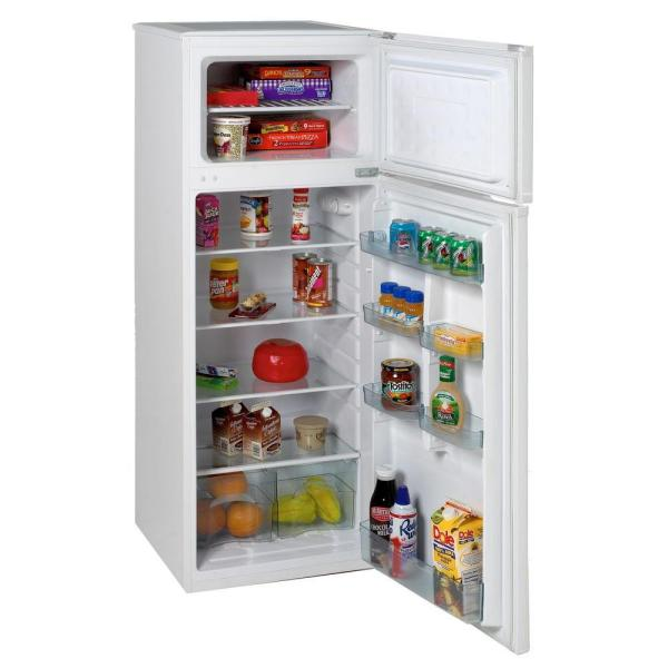 7 4 Cu Ft Apartment Size Top Freezer Refrigerator In White Ra7306wt The Home Depot