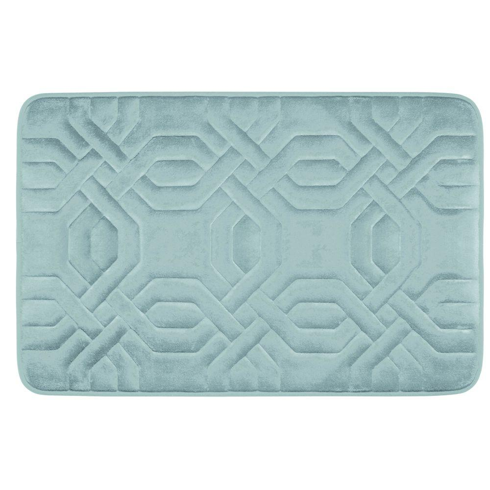 Chain Ring Aqua 20 in. x 32 in. Memory Foam Bath