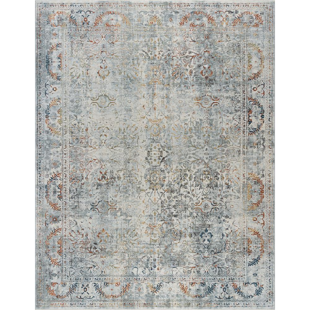Tayse Rugs Venice Gray 9 Ft 6 In X 12 Ft 5 In Area Rug