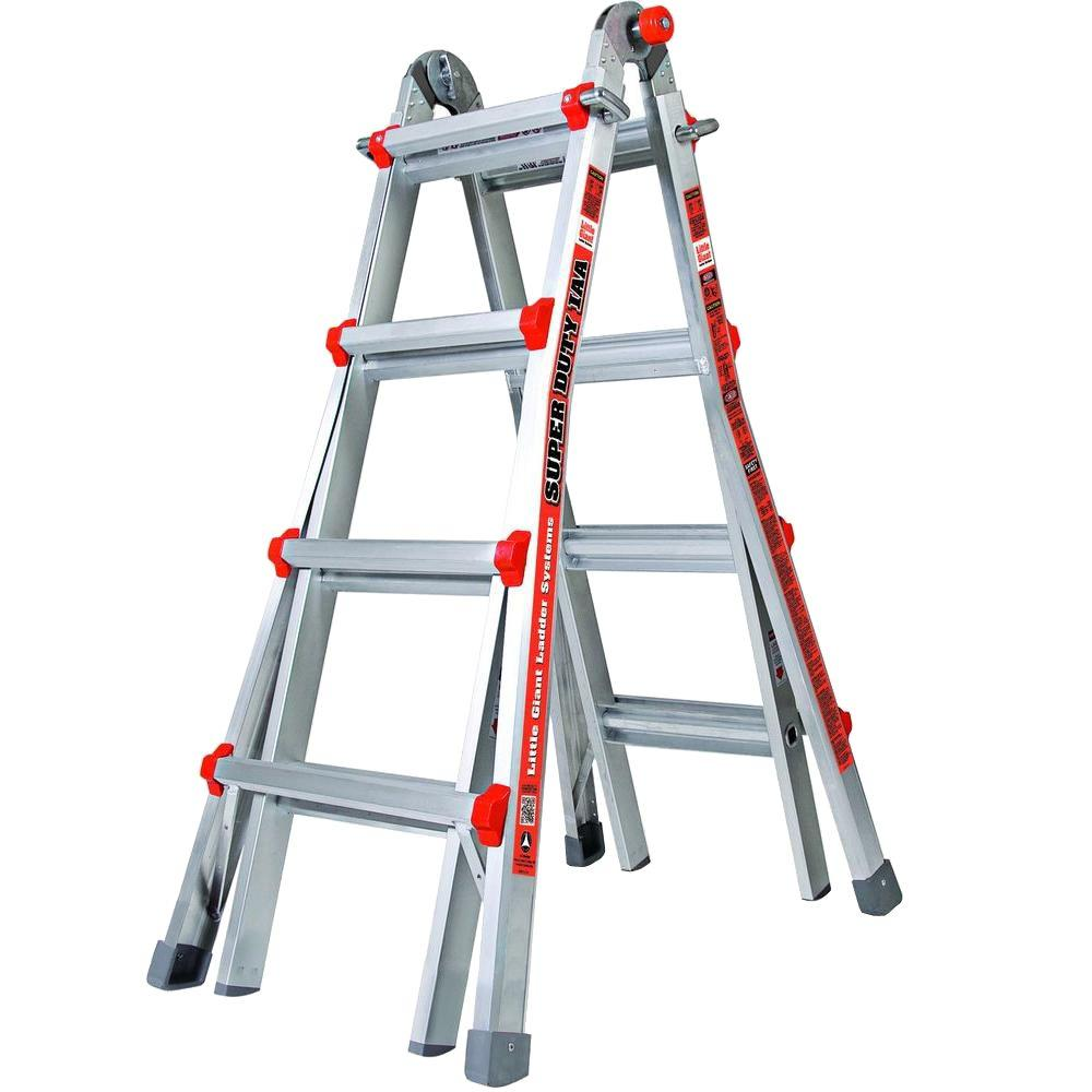 Little Giant Ladder Systems Super Duty 17 ft. Aluminum Multi-Position Ladder with 375 lb. Load Capacity Type IAA Duty Rating