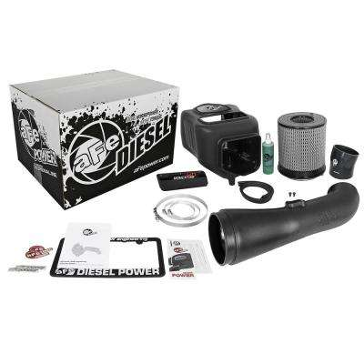Stage 2 Cold Air Intake Raw w// PG7 Filter for Powerstroke 6.7L 11-16-Black