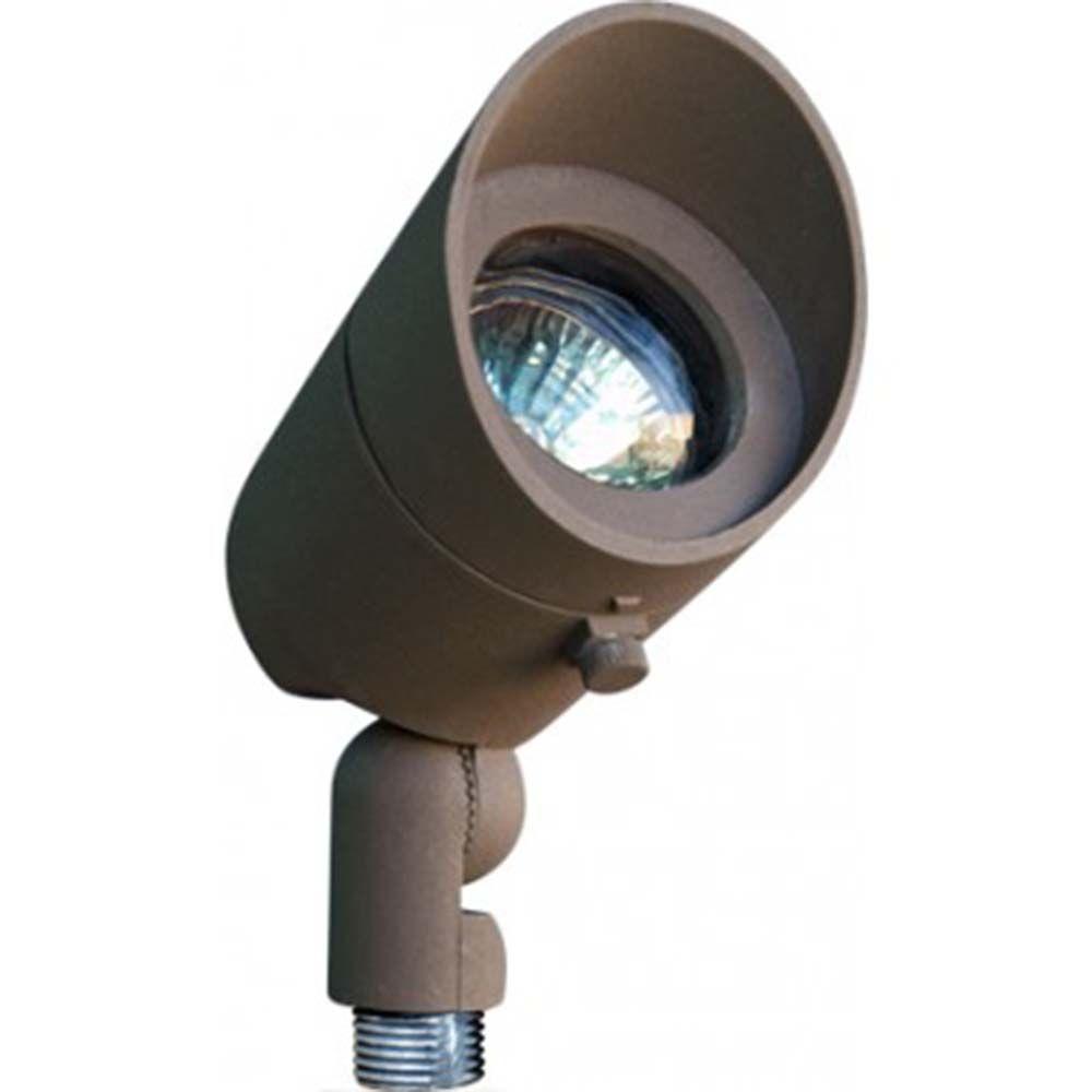 Skive 1-Light Bronze Outdoor Directional Spot Light
