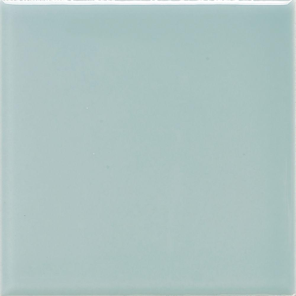 Green ceramic tile tile the home depot semi gloss spa 4 14 in x 4 1 doublecrazyfo Choice Image
