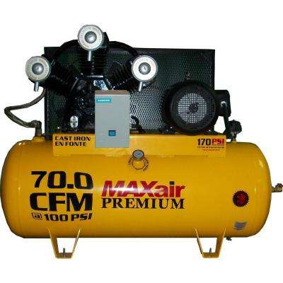 Premium Industrial 120-Gal. 15 HP Electric 230-Volt Single Stage 3-Phase Air Compressor