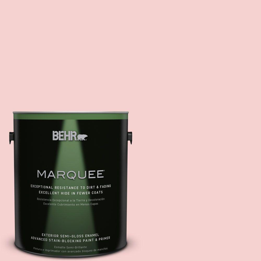 1-gal. #P170-1 Youth Blush Semi-Gloss Enamel Exterior Paint