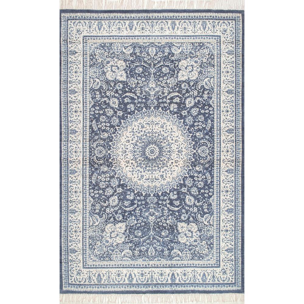 Tillie Oriental Persian Blue 8 ft. x 10 ft. Area Rug