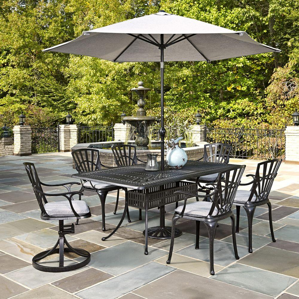 Home Styles Largo 7 Piece Outdoor Patio Dining Set With