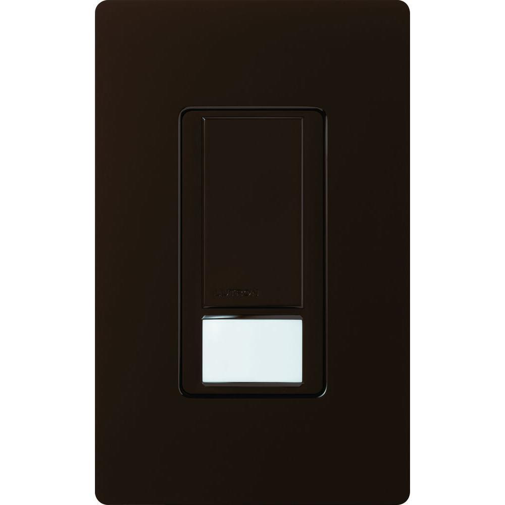 Lutron Maestro Dual Voltage Vacancy Sensor switch, 6-Amp, Single-Pole, Brown
