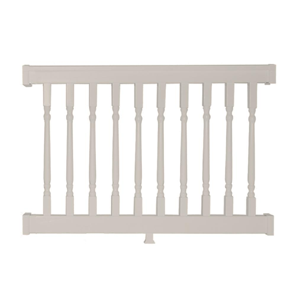 Delray 3.5 ft. H x 4 ft. W Vinyl Tan Railing