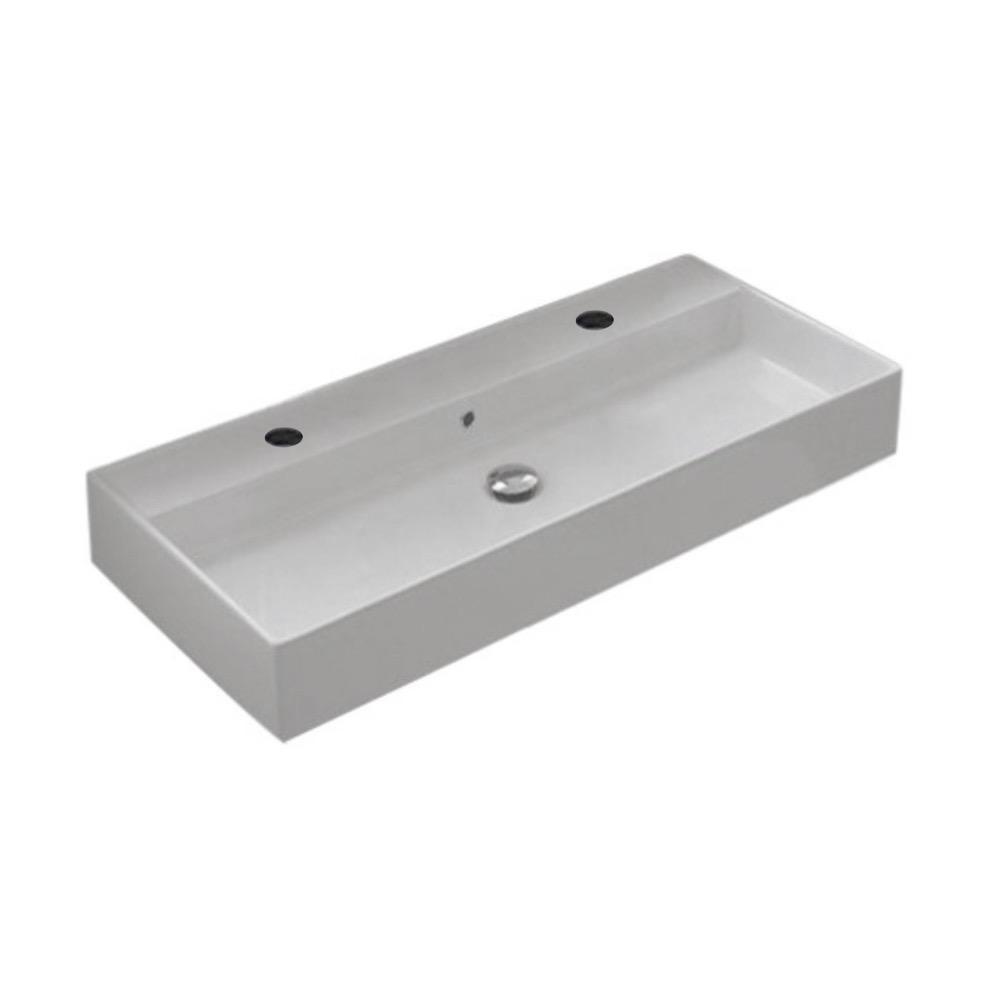 Nameeks Teorema Wall Mounted Bathroom Sink in White