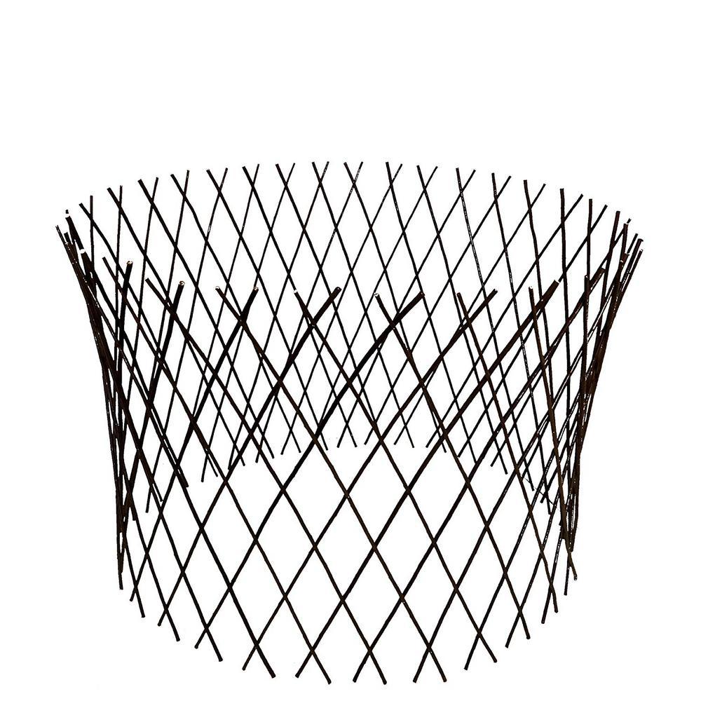30 in. H x 60 in. W Circular Willow Lattice Trellis Fence