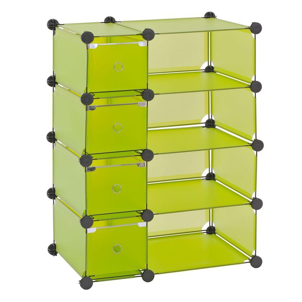 Sandusky 32.5 in. W x 32 in. H x 14.75 in. D Green Cube Storage