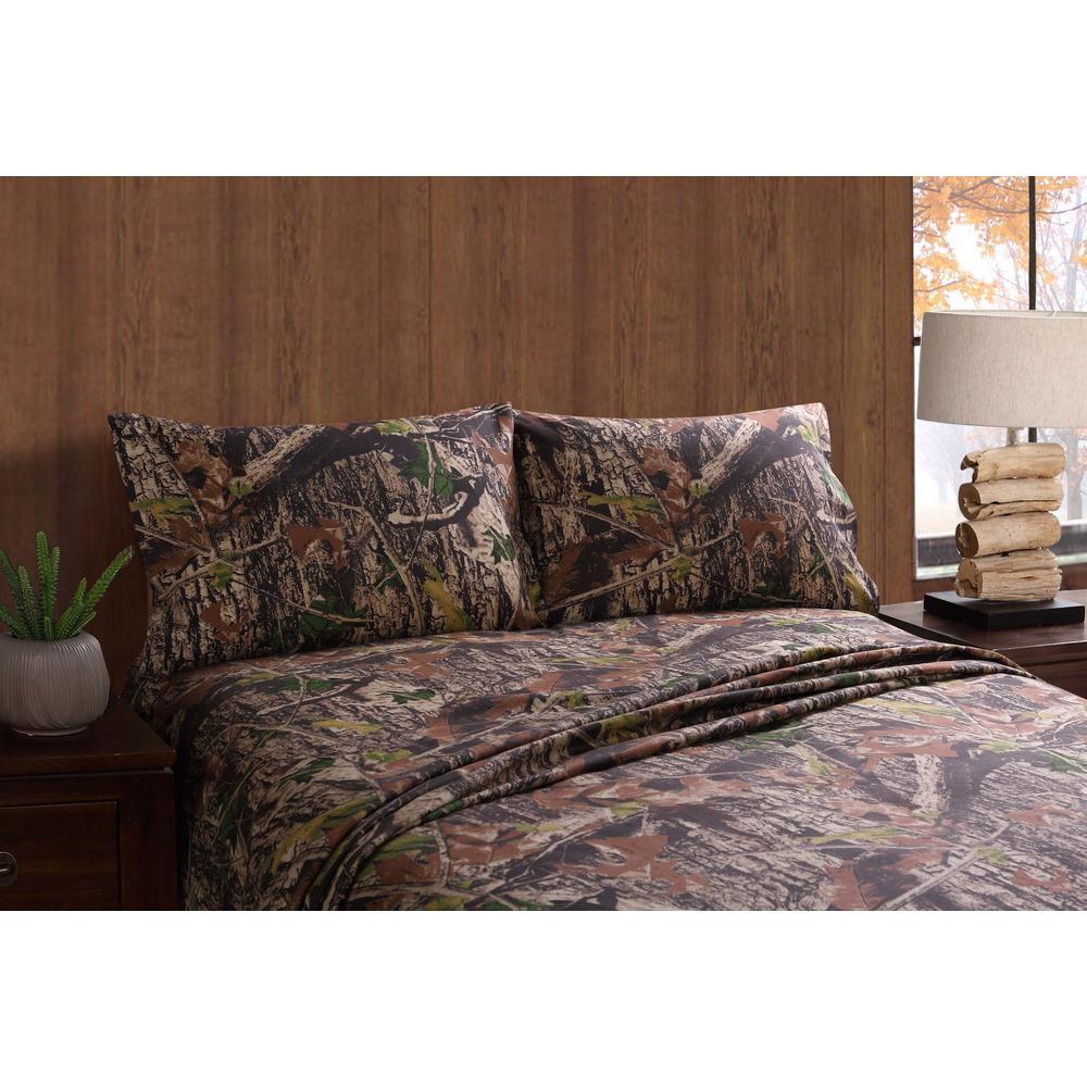 Mount Monadnock Camo King Sheet Set