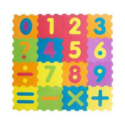 Multi-Color 12 in. x 12 in. Numbers Play Mat (16-Pack)