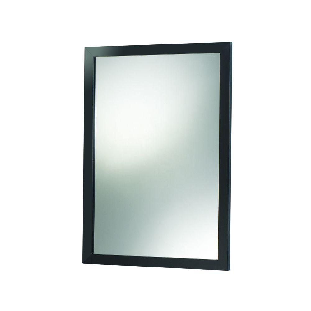 Foremost City Loft 24 in. Vanity Mirror in Black-DISCONTINUED