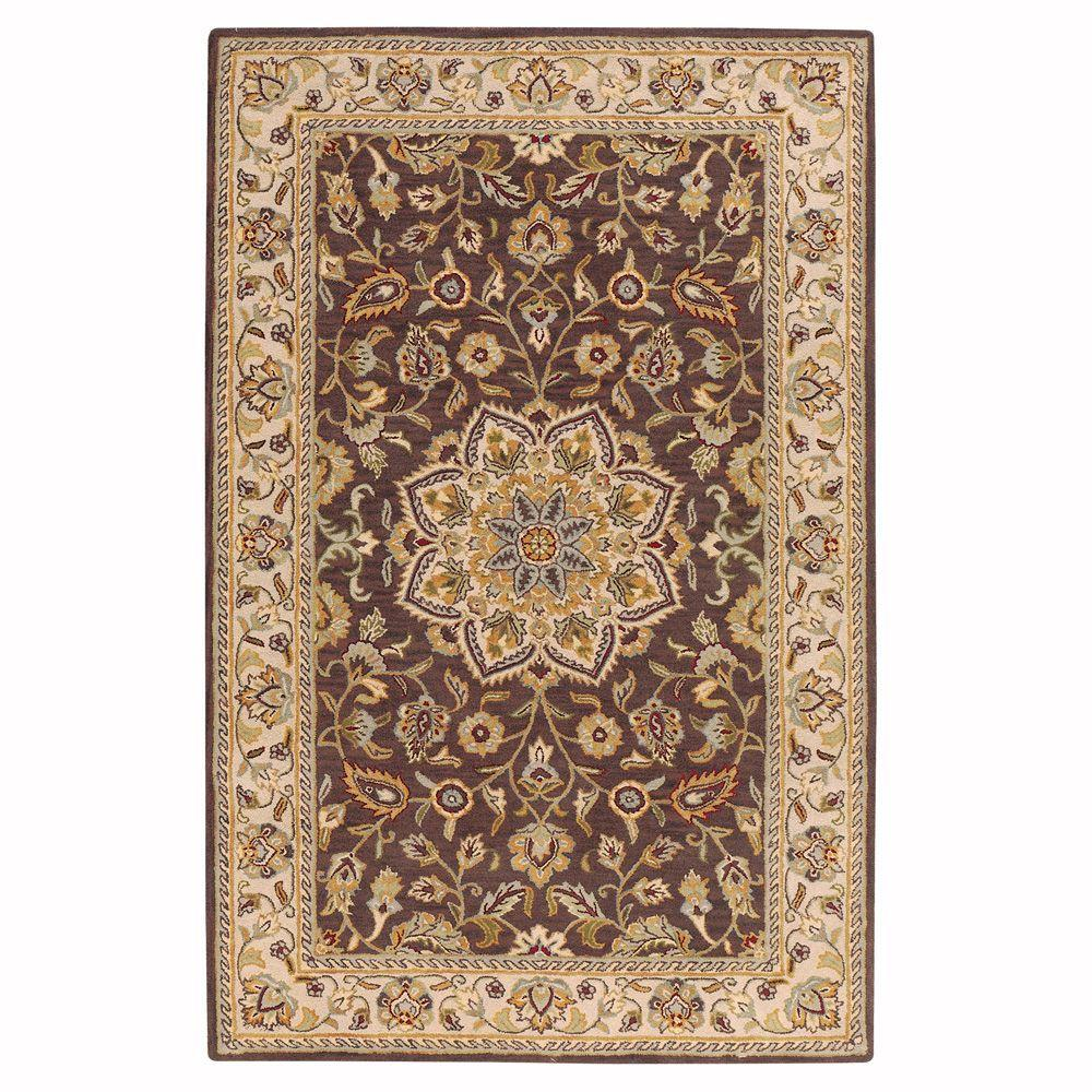 Home Decorators Collection Earley Brown/Ivory 4 ft. x 6 ft. Area Rug