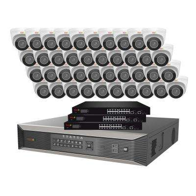 64-Channel 4K SMART NVR, 16TB and 40X True 4K Ultra Plus wtih Indoor/Outdoor Motorized Lens Audio IR Turret Cameras