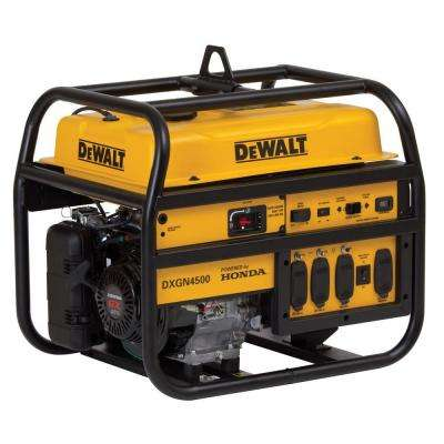4,500-Watt Gasoline Powered Manual Start Portable Generator with Honda Engine