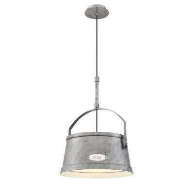 Turin Collection 1-Light Silver Large Pendant